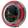 NHL Chrome Double Rung Neon Clock - Watermark - Ottawa Senators�