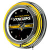 NHL Chrome Double Rung Neon Clock - Pittsburgh Penguins�