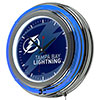 NHL Chrome Double Rung Neon Clock - Watermark - Tampa Bay Lightning�