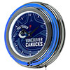 NHL Chrome Double Rung Neon Clock - Watermark - Vancouver Canucks�