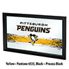 NHL Framed Logo Mirror - Pittsburgh Penguins�