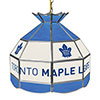 NHL 16 Inch Handmade Stained Glass Lamp - Toronto Maple Leaf�