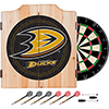 NHL Dart Cabinet Set with Darts and Board - Anaheim Ducks