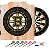 NHL Dart Cabinet Set with Darts and Board - Boston Bruins