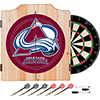 NHL Dart Cabinet Set with Darts and Board - Colorado Avalanche