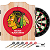 NHL Dart Cabinet Set with Darts and Board - Chicago Blackhawks