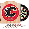 NHL Dart Cabinet Set with Darts and Board - Calgary Flames