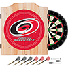 NHL Dart Cabinet Set with Darts and Board - Carolina Hurricanes