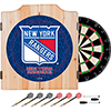 NHL Dart Cabinet Set with Darts and Board - New York Rangers