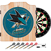 NHL Dart Cabinet Set with Darts and Board - San Jose Sharks