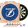 NHL Dart Cabinet Set with Darts and Board - Tampa Bay Lightning