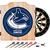 NHL Dart Cabinet Set with Darts and Board - Vancouver Canucks