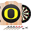 University of Oregon Wood Dart Cabinet Set - Carbon Fiber