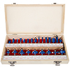 Router Bit Set- 24 Piece Kit with �? Shank and Wood Storage Case By Stalwart (Woodworking Tools for Home Improvement and DIY)