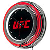 UFC Chrome Double Ring Neon Clock