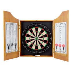 TG? Solid Wood Dart Cabinet Set - Pro Style Board and Darts