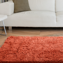 Lavish Home High Pile Shag Rug Burnt Orange  21x36