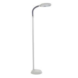 Natural Full Spectrum Sunlight Reading and Crafting Floor Lamp by Lavish Home (Beige) - Adjustable Gooseneck