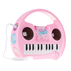 Kids Karaoke Machine with Microphone, Includes Musical Keyboard & Lights - Battery Operated Portable Singing Machine for Boys and Girls by Hey! Play!