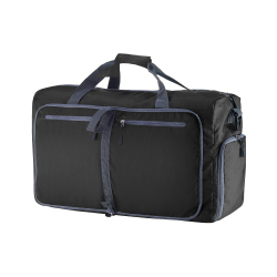 Duffle Gym Bag - Luggage Tote for Overnight / Weekend Trips - Includes Shoe Compartment and Outer Pockets for Storage by Wakeman Outdoors (BLACK/28