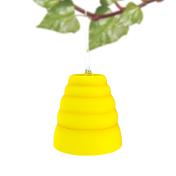 Wasp, Bee, Yellow Jacket and Hornet Trap Hive Catcher ? Non Toxic Reusable Hanging Outdoor Attractant and Pest Killer by Trademark Home