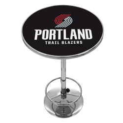 Portland Trail Blazers NBA Chrome Pub Table