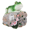 Yard D�cor, Solar Outdoor LED Light and Battery Operated Statue for Garden, Patio, Lawn, and Yard by Pure Garden - Frog Statue