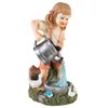 Yard D�cor, Solar Outdoor LED Light and Battery Operated Statue for Garden, Patio, Lawn, and Yard by Pure Garden ? Little Girl Statue