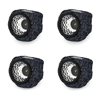 Outdoor LED Solar Rock Lights ? Realistic All-Weather Faux Stone Spotlight Fixture for Gardens, Pathways, and Patios by Pure Garden (Set of 4)