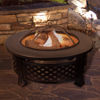 Fire Pit Set, Wood Burning Pit - Includes Spark Screen and Log Poker - Great for Outdoor and Patio, 32? Round Metal Firepit by Pure Garden