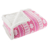 Sherpa Fleece Throw Blanket With Pink Snowflake Pattern- Lightweight Hypoallergenic Bed or Couch Soft Plush Blanket (60? x 70?) by Lavish Home