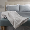 Cotton Blanket, Soft Breathable 100 Percent Cotton Twin Blanket for Comfort and Warmth By Lavish Home (Twin Size) (Platinum)