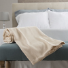 Cotton Blanket, Soft Breathable 100 Percent Cotton Twin Blanket for Comfort and Warmth By Lavish Home (Twin Size) (Taupe)