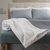 Cotton Blanket, Soft Breathable 100 Percent Cotton Twin Blanket for Comfort and Warmth By Lavish Home (Twin Size) (White)