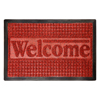 Door Mat Indoor/Outdoor Welcome Mat- Nonslip Rubber with Low Profile, Modern Design for Patio, Garage, Front Entrance by Lavish Home (Red, 17.5 x 29)