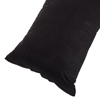 Body Pillow Cover, Soft Micro-Suede Pillowcase with Zipper, Fits Pillows Up To 50 Inches by Lavish Home (Black)