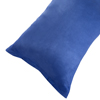 Body Pillow Cover, Soft Micro-Suede Pillowcase with Zipper, Fits Pillows Up To 50 Inches by Lavish Home (Blue)