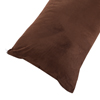 Body Pillow Cover, Soft Micro-Suede Pillowcase with Zipper, Fits Pillows Up To 50 Inches by Lavish Home (Chocolate)