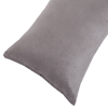 Body Pillow Cover, Soft Micro-Suede Pillowcase with Zipper, Fits Pillows Up To 50 Inches by Lavish Home (Grey)