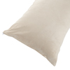Body Pillow Cover, Soft Micro-Suede Pillowcase with Zipper, Fits Pillows Up To 50 Inches by Lavish Home (Ivory)