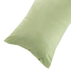 Body Pillow Cover, Soft Micro-Suede Pillowcase with Zipper, Fits Pillows Up To 50 Inches by Lavish Home (Sage)