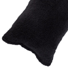 Body Pillow Cover, Soft Sherpa Pillowcase With Zipper, Fits Pillows Up To 51 Inches by Lavish Home (Black)