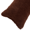 Body Pillow Cover, Soft Sherpa Pillowcase With Zipper, Fits Pillows Up To 51 Inches By Lavish Home (Chocolate)