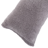 Body Pillow Cover, Soft Sherpa Pillowcase With Zipper, Fits Pillows Up To 51 Inches by Lavish Home(Grey)