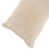 Body Pillow Cover, Soft Sherpa Pillowcase With Zipper, Fits Pillows Up To 51 Inches By Lavish Home (Ivory)