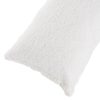 Body Pillow Cover, Soft Sherpa Pillowcase With Zipper, Fits Pillows Up To 51 Inches by Lavish Home (White)
