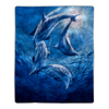 Sherpa Fleece Throw Blanket- Ocean Dolphin Print Pattern, Lightweight Hypoallergenic Bed Couch Soft Plush Blanket for Adults and Kids by Lavish Home