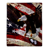 Sherpa Fleece Throw Blanket - American Flag Bald Eagle Print, Lightweight Hypoallergenic Bed Couch Plush Blanket for Adults and Kids by Lavish Home