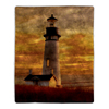 Sherpa Fleece Throw Blanket- Lighthouse Print Pattern, Lightweight Hypoallergenic Bed or Couch Soft Plush Blanket for Adults and Kids by Lavish Home