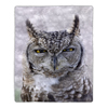 Sherpa Fleece Throw Blanket- Owl Print Pattern, Lightweight Hypoallergenic Bed or Couch Soft Cozy Plush Blanket for Adults and Kids by Lavish Home